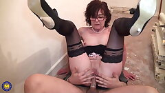 Mature doll gets rough sex from youthful worker