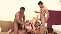MILF interracial anal sex party - DP - hook-up and gangbang – BBC