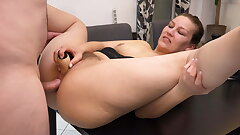 My 1st double invasion with anal creampie l DADDYS LUDER