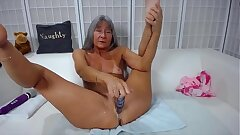Adept cocky mature Leilani dirty talking and gets cream