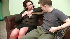 Russian Mature Olga with young boy 546496