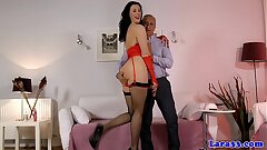 Assfucked fashionable mature anal creampied