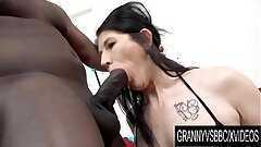 Granny Vs BBC - Mature Slut Niky Has Her Ass Pumped Total of Black Seed