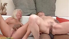 brutal big man rod bi-racial anal grannie fuck-fest