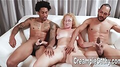 Massive Big black cock Creampie For Milf