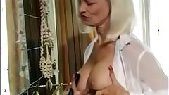 Pierced Mom Humps Hairbrush then gets Anal. See pt2 at goddessheelsonline.co.uk