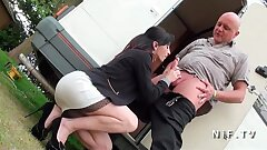 Pretty Amateur french milf with small bra-stuffers hard anal pounded
