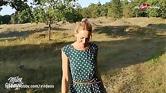 MyDirtyHobby - German MILF blows two times and creampied outdoors