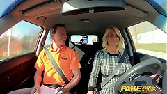 Fake Driving School Blonde MILF Tiffany Russo Screws for Licence