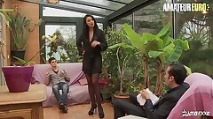 AMATEUR EURO - This Busty Polish MILF Ania Kinski Gets Double penetration From French Hubby & Stepson