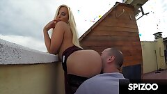 Hot Bubble Butt Blondie Fesser gets Torn up Outdoors - Spizoo