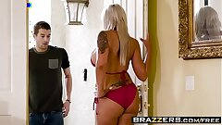 Brazzers - Mommy Got Boobs - Hot Mom Swims gig starring Nina Elle and Xander Corvus