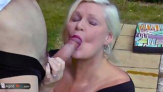 AgedLovE Lacey Starr Fucking Poolboy Hardcore