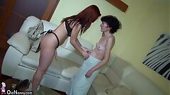 Oldnanny granny and sexy teen enjoy lesbian play