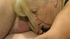 2 granny get fucked in foursome act