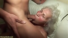 crazy 75 years old grandma first porn flick