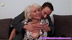 European granny gets pussy fucked and jizzed on