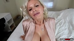 Gigantic tits granny mother loves a fuck by her stepson