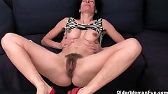 Older women drenching their cotton panties with pussy juice