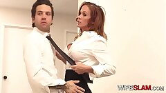Hot Slutwife Sabrina Cyns Ravages Her Co-worker