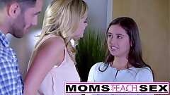 MomsTeachSex - Showing My Nubile Daughter-in-law How To Deep-throat Big Cock