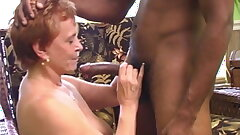 Interracial Gangbang with a Insatiable Grannie