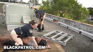 BLACK PATROL - Black Thug Burglar Fucks Mummy Police Women For Freedom