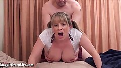 School Girl Maggie Green gets Poked With Her Pigtails Pulled!