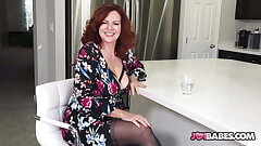 Huge-chested Wife Andi James Gives JOI to Husband's Friend