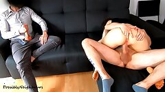 Cheating Husband Sees His Young Wife Creampied And Licked