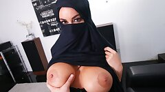 Big-boobed Muslim MILF Cheats On Husband With White Guy, POV