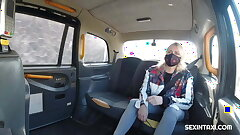 Sexy blonde widow got it hard in the taxi