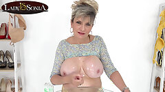 Jerk off directives from big melon mature Lady Sonia