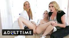 Virgin Squirts Lead to Blonde Threeway - ADULT TIME