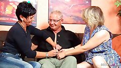 German Mature Wife converses Ugly Maid into FFM Threeway with Hubby